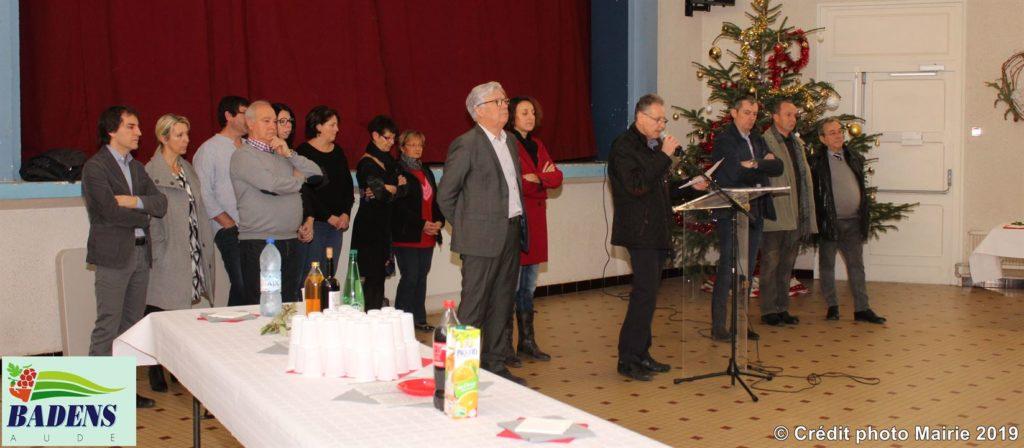 Photo voeux du Maire Mairie de Badens