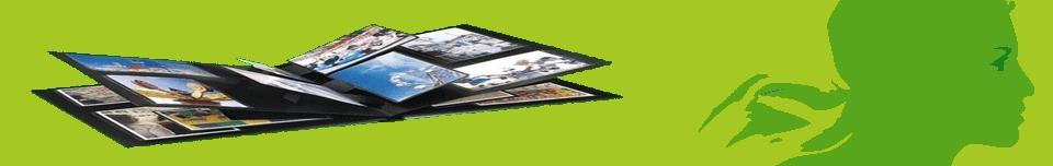 albums photos et marianne sur fond vert