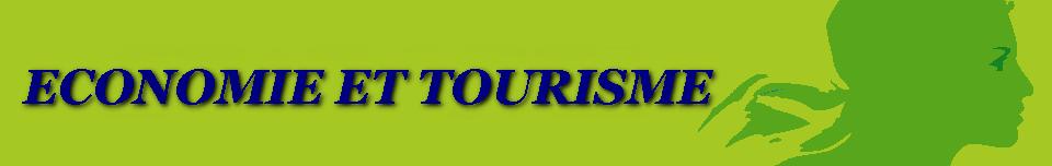 fond vert avec marianne et inscrit economie et tourisme